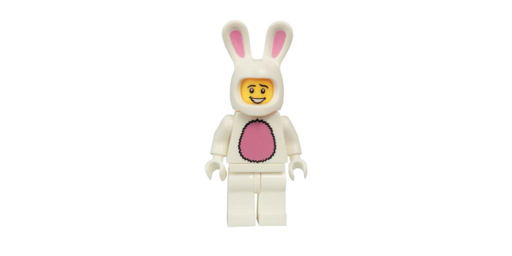 Plastic LEGO rabbit figurine