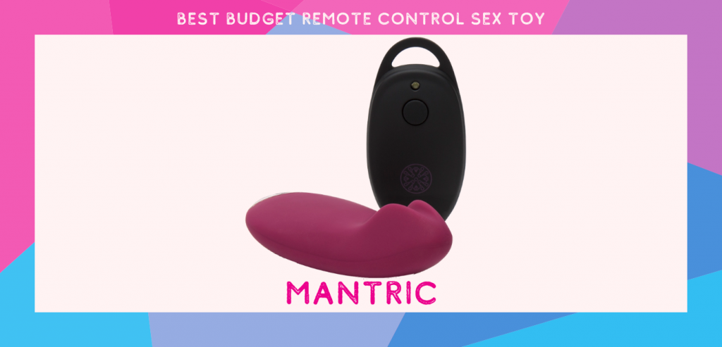 "text ""best budget remote control sex toy"" with picture of mantric remote control panty vibrator"